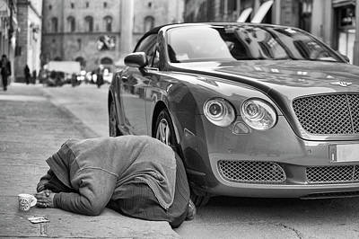 Bentley Photograph - Rich And Poor by Michele Chiroli
