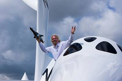 Branson Photograph - Richard Branson And Spaceshiptwo. by Mark Williamson