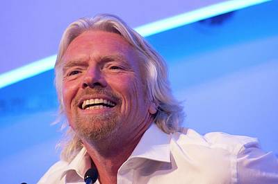 Press Conference Photograph - Richard Branson. by Mark Williamson
