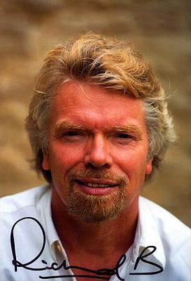 Richard Branson Print by Studio Photo