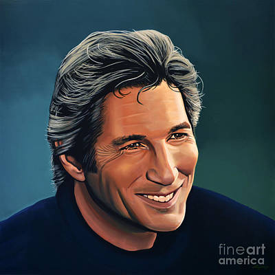 Golden Painting - Richard Gere by Paul Meijering