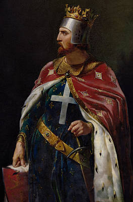 Chain Painting - Richard I The Lionheart by Merry Joseph Blondel