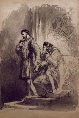 The King Drawing - Richard IIi by Sir John Gilbert