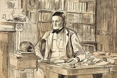 Moa Photograph - Richard Owen In His Study, 1883 by Paul D. Stewart