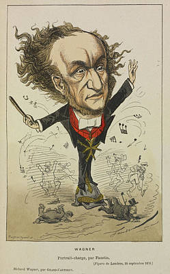 Personalities Photograph - Richard Wagner by British Library