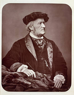 Wagner Photograph - Richard Wilhelm Wagner by British Library