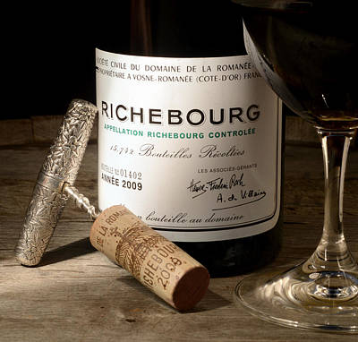 Sommelier Photograph - Richebourg by Jon Neidert
