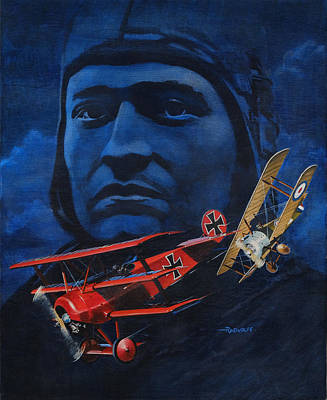Air Ace Painting - Richthofen And Brown by Richard De Wolfe