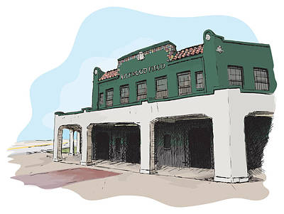 Baseball Stadiums Drawing - Rickwood Field by Greg Smith
