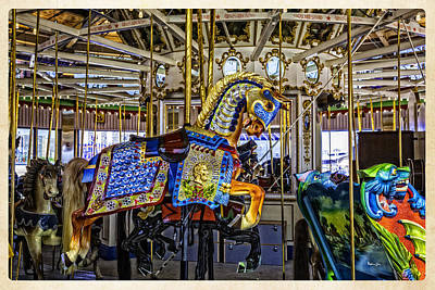 Luna Park Photograph - Ride A Painted Pony - Coney Island 2013 - Brooklyn - New York by Madeline Ellis