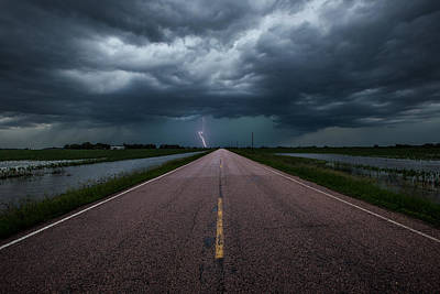 Ride The Lightning Print by Aaron J Groen