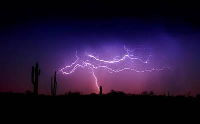Natural Forces Photograph - Ride The Lightning  by Saija  Lehtonen
