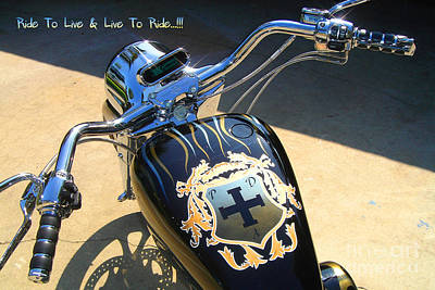 Drag Mixed Media - Ride To Live  by Phillip Allen