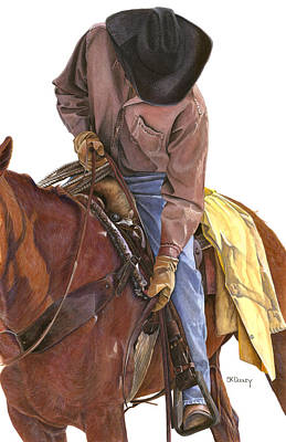 Cowboy Hat Painting - Ride To Raton by JK Dooley