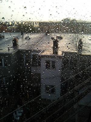 Ridgewood Houses Wet With Rain Print by Mieczyslaw Rudek Mietko