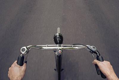 Riding A Bicycle  Print by Julien Balmer