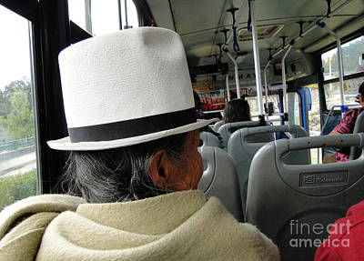 Riding The Bus Print by Al Bourassa