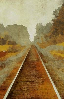 Train Mixed Media - Riding The Rails by Dan Sproul