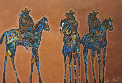 Riding Three Print by Lance Headlee