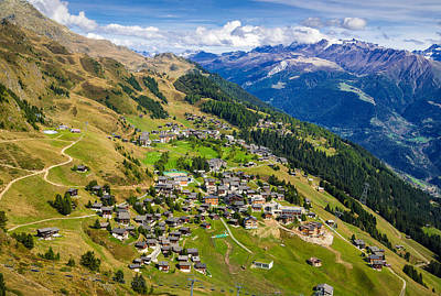 Riederalp Valais Swiss Alps Switzerland Europe Print by Matthias Hauser