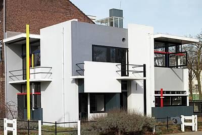 De Stijl Photograph - Rietveld Schroder House Utrecht Pan by Dirk Wiersma