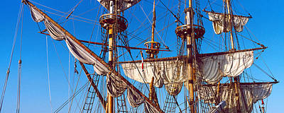 Rigging Of A Tall Ship, Finistere Print by Panoramic Images