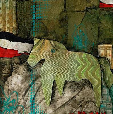 On Paper Mixed Media - Right As Rain by Laura  Lein-Svencner