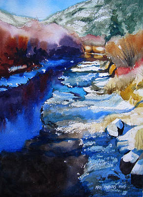 National Park Painting - Right Bank by Kris Parins