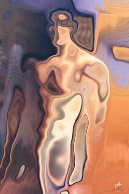 Abstract Naked Man Print by Joaquin Abella