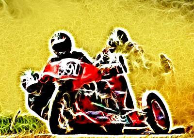 Right Hand Sidecar Outfit Print by Sharon Lisa Clarke