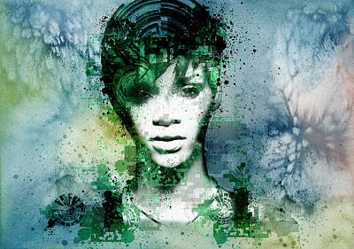 Rihanna 4 Print by Bekim Art