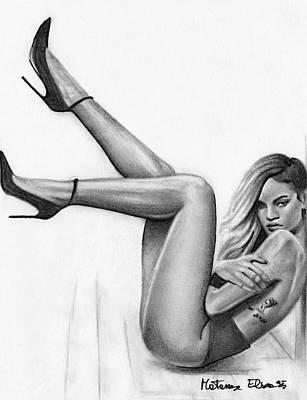 Rihanna Drawing - Rihanna  by Elisa Matarrese