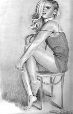 Rihanna Drawing - Rihanna by Hannah Christine Nicholson