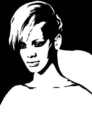 Rihanna Painting - Rihanna by Monofaces