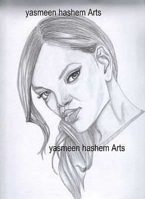 Rihanna Portrait Original by Yasmeen Hashem