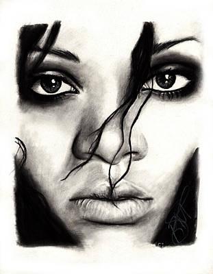 Rihanna Print by Rosalinda Markle