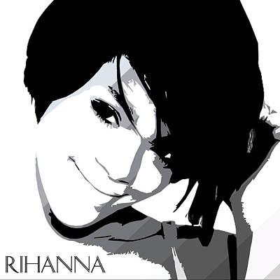 Rihanna Digital Art - Rihanna Warholesque By Gbs by Anibal Diaz