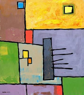 Block Painting - Rijsttafel by Douglas Simonson