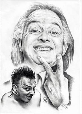 Drawing - Rik Mayall Tribute by Tim Thorpe
