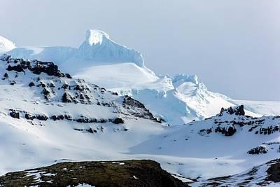Rime Deposits On Oraefajokull Volcano Print by Dr Juerg Alean