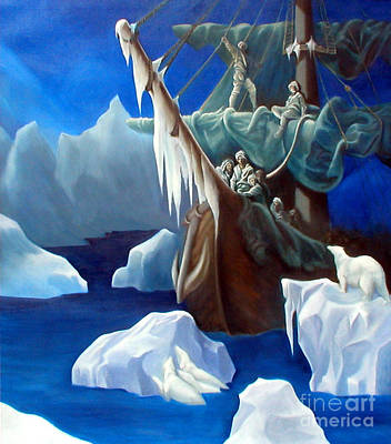 Suffrage Painting - Rime Of The Ancient Mariner A Tribute To Gustave Dore by Rosemarie Morelli
