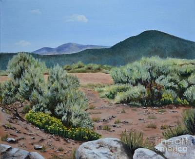 High Desert Painting - Rinconada Loop by Mary Rogers