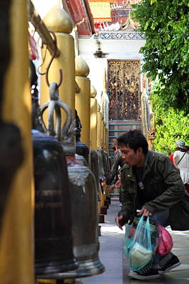 Ringing Of The Bells - Wat Phrathat Doi Suthep - Chiang Mai Thailand - 01131 Print by DC Photographer