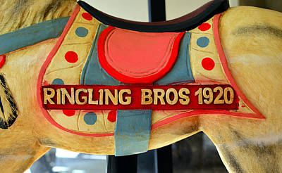 Ringling Carousel Horse 1920 Print by David Lee Thompson