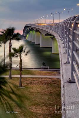 Ringling Causeway Bridge Overlook Original by Sue Karski