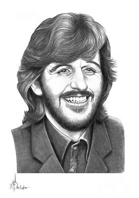 Beatles Drawing - Ringo by Murphy Elliott
