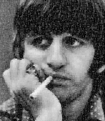 Ringo Starr Mosaic Image 2 Print by Steve Kearns