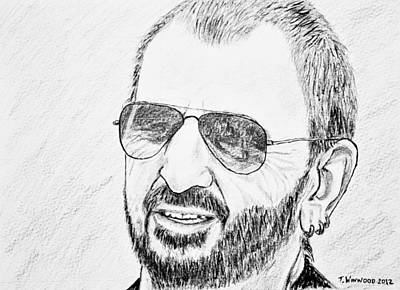 Ringo Starr Drawing - Ringo by Tricia Winwood