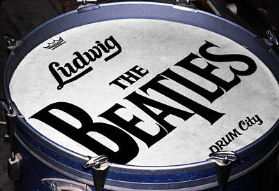 Fab Four Digital Art - Ringo's Drum by Ron Regalado