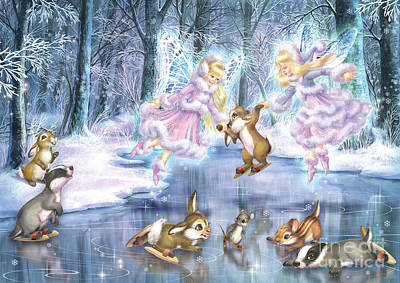 Mouse Digital Art - Rink In The Forest by Zorina Baldescu